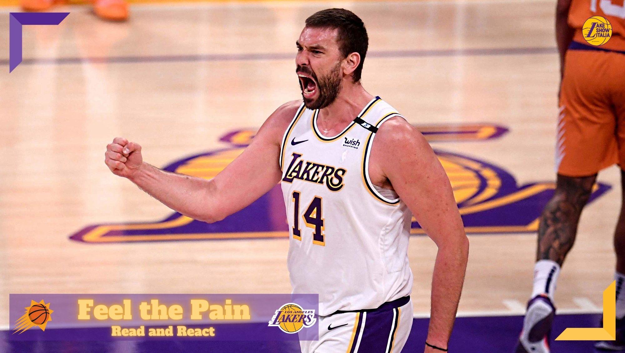 La nostra analisi di gara 4 tra Lakers e Suns con un focus sul contributo positivo di Marc Gasol e la pessima difesa in transizione dei gialloviola.