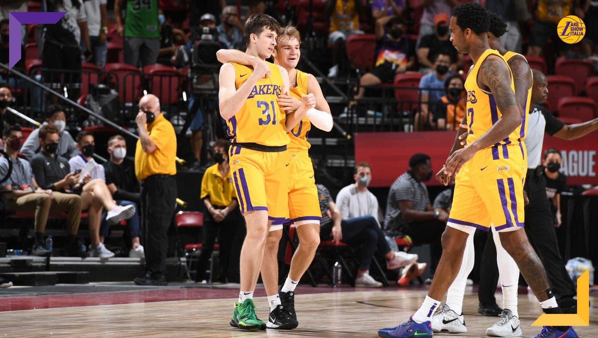 Successo per i Los Angeles Lakers contro i Phoenix Suns all'esordio nella Las Vegas Summer League. Decisivi di canestri di Reaves e McClung.