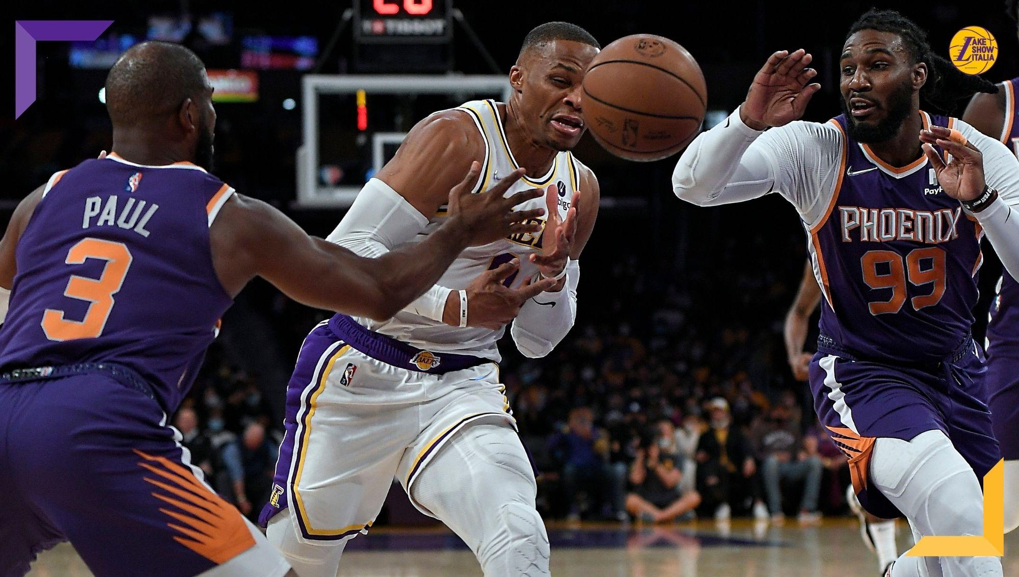 Quarta sconfitta per i Los Angeles Lakers, battuti ancora dai Phoenix Suns. Anthony Davis in crescita, male Westbrook, a riposo LeBron James.