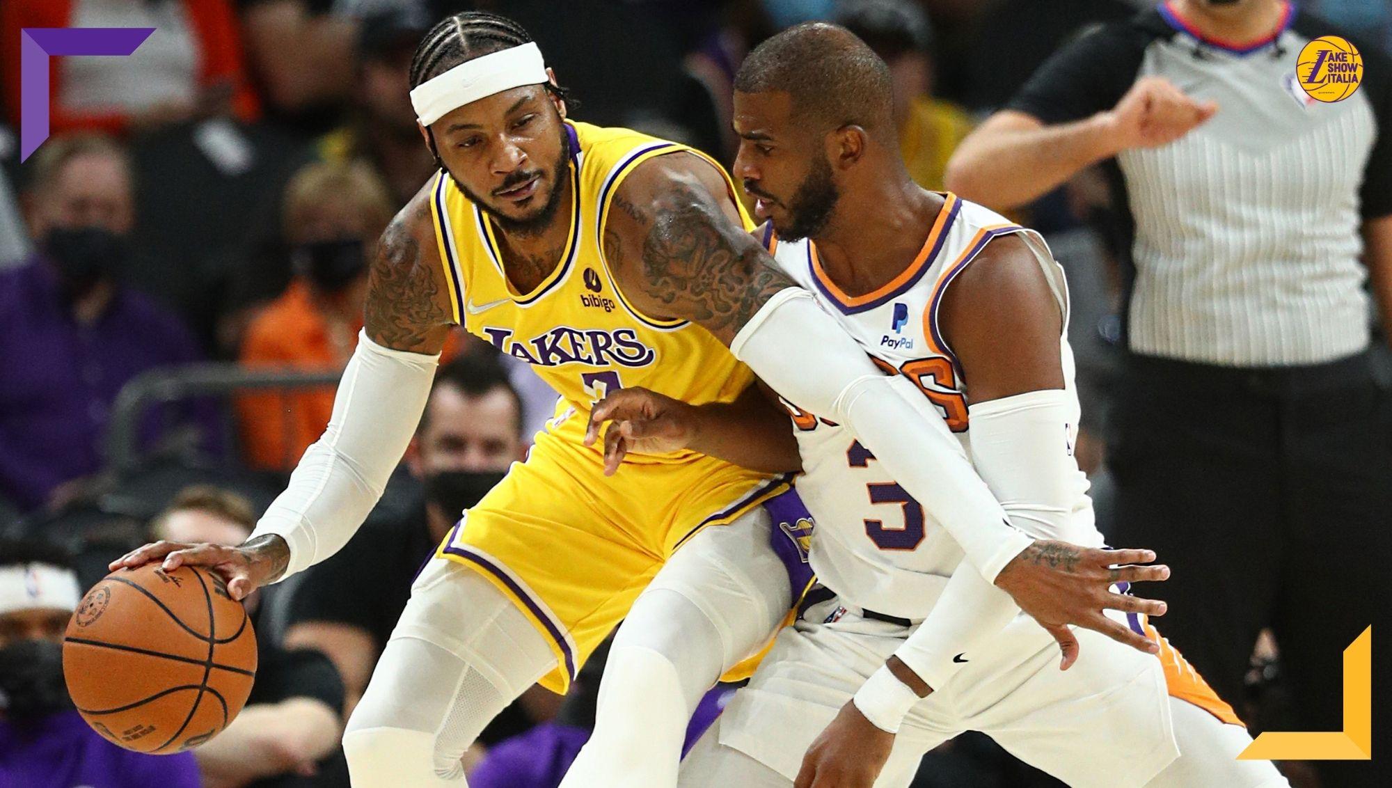 Altro stop per i Lakers, travolti anche dai Suns. Esordio per Melo, cresce il minutaggio di Davis, bene Monk. Out James, Westbrook e Booker.